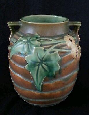1930's Roseville Pottery unmarked vase, 10 inches