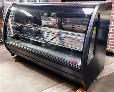 "2014 Torrey Tem200Nl-Ul 75"" Refrigerated Curved Glass Merchandiser Deli Case"