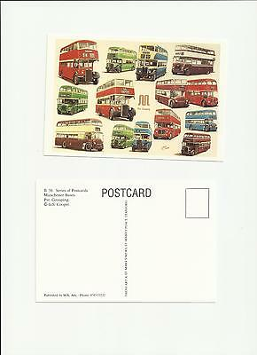 Greater Manchester Buses Pre Group Rochdale Salford Art Postcard by G S Cooper