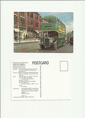 Bus Postcard Leeds City Transport Leyland PD2 Roundhay Route 6 by G S Cooper