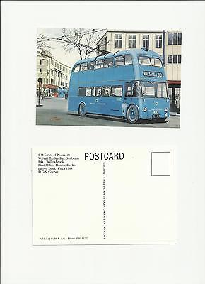Walsall Corporation Transport Sunbeam Trolleybus Art Postcard by G S Cooper