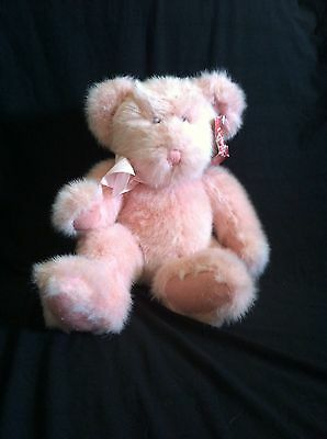 Russ Bear Luv'ums Pink Teddy Plush Stuffed Animal From The Past