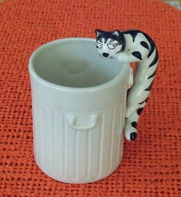 "Vintage Mug By Takahashi  ""tom Cat""  Hand Painted -- 4 Inches Tall Ceramic"