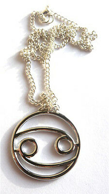 Xmas Gift Present Silver Star Sign Zodiac Necklace - With Free Gift Bag