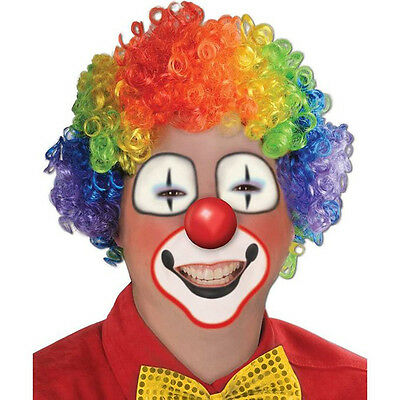 Party Disco Rainbow Afro Clown Hair Football Fan Adult Child Costume Curly Wig~