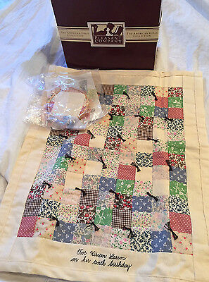 American Girl Vintage KIRSTEN FRIENDSHIP QUILT AND QUILT KIT NEW in Original Box