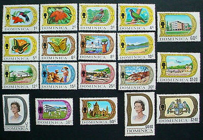 Dominica 1969: Definitives Issue: Set Of 19 Mnh Stamps