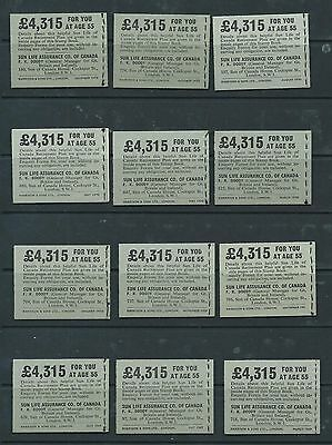1968-1970 15 x TWO SHILLINGS GREY BOOKLETS NP30-NP45 ALMOST A COMPLETE RUN