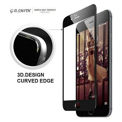 NEW! Black Full Cover Tempered Glass 3D Curved Screen Protector For iPhone 6 6s