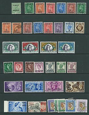 Kuwait 37 Stamps Early To Modern Mint And Used