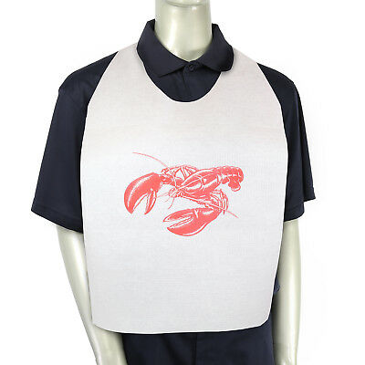 Royal 15'' x 30'' Paper Adult Tie-On Bibs with Lobster Design, Case of 500