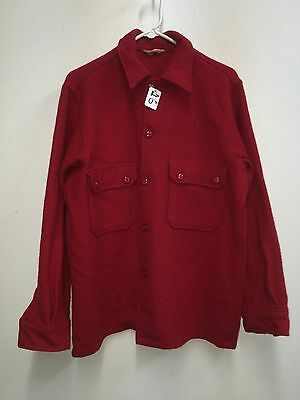 Vintage Bsa Official Red Wool Coat Size: 42 Used (Bsa2_16)