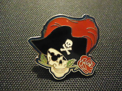 Disney Dlr 2007 Hidden Mickey Lanyard Pirate Collection Rose In Mouth Pin