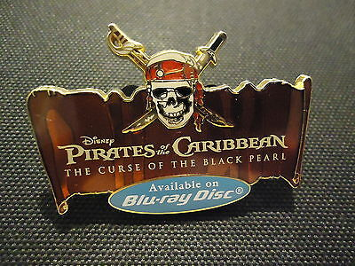 Disney Pirates Of The Caribbean The Curse Of The Black Pearl Blu-Ray Disc Pin