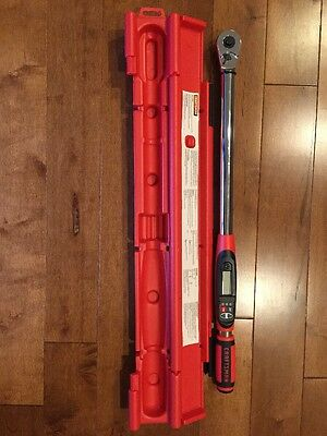 NEW Craftsman Electronic Digital Torque Wrench 1/2 in. Drive 47712 In Hard Case