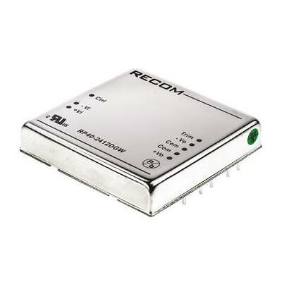 1 x Recom Isolated DC-DC Converter RP40-2412DGW, Vin 9-36V dc Vout ±12V dc
