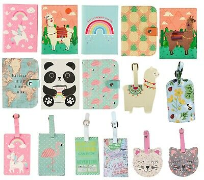 Floral Passport Cover Luggage Tag Suitcase Label Address ID Holiday Tags Vintage