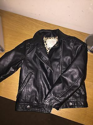 Girls Leather Look Jacket Matalan Age 6 to 7