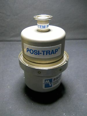 """Mass-Vac Stainless Steel 4"""" Straight Through Posi-Trap with NW25 Flanges"""