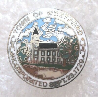 Town of Westford, Massachusetts Souvenir Collector Pin-Incorporated Sept.23,1729