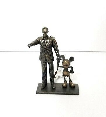 Disney Parks Walt Disney & Mickey Mouse Partners Statue Figure Ornament Small