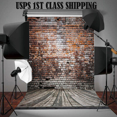 5x7FT Brick Wall Vinyl Retro Photography Backdrop Studio Photo Prop Background #