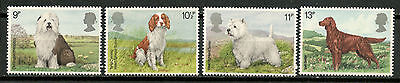 GB 1979 SG 1075-1078 DOGS Sheepdog Spaniel Terrier Setter SET MNH**