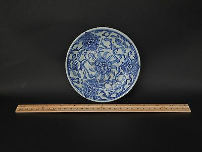 Antique Chinese Provincial Minyao Blue White Saucer Dish Ming or Later