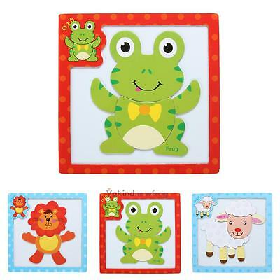 Kids Child Educational Learning Wooden Magnetic Board Jigsaw Puzzle Toys Gift