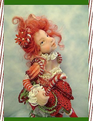 ~Holiday Candy Cane~ Pixie Girl  By Poppenmoon
