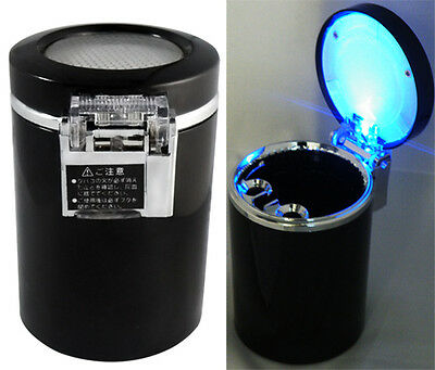 Car Auto Travel Led Lamp Cigarette Ashtray Ash Holder Cup for Smoking Gift CC