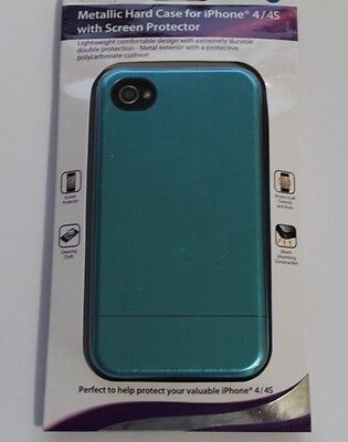 Dolphin - Metallic Hard Case for iPhone 4 / 4S & screen protector