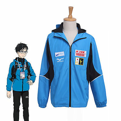 Yuri!!! on Ice Yuri Katsuki Hoodie Cosplay Costume Jacket Coat USA Ship