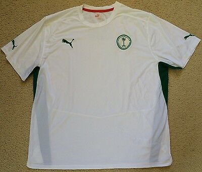 Authentic Saudi Arabia Soccer Jersey Football Shirt Puma Mens XXL VGC
