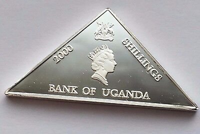 2000 Uganda Proof 2000 Shilling Silver Millennium Triangular Coin