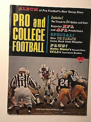 1966 Pro and College Football Yearbook Magazine by Whitestone Publications.
