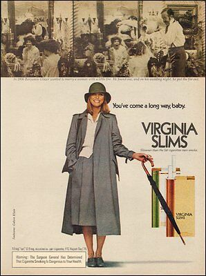 1976 Vintage ad for Virginia Slims Cigarettes Cheryl Tiegs(101016)