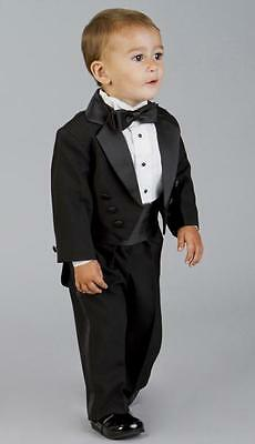 Bespoke Flower Boys' Tuxedos Groomsmen Wedding Party Children's Suits Tailcoats