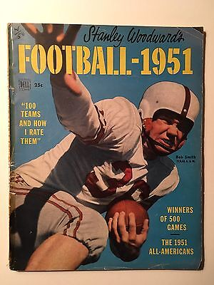 1951 Stanley Woodward's College Football Yearbook by Dell Magazine.