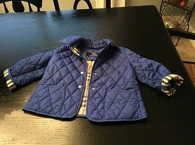 Burberry Quilted Girls jacket kids Size 3-4