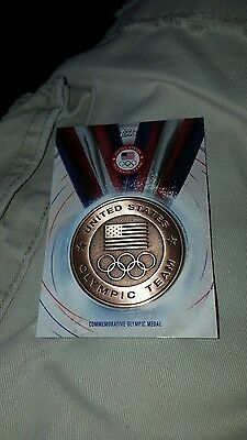 2016 Topps Olympic Bronze Commemorative Medal Card