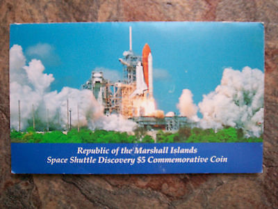 SPACE SHUTTLE DISCOVERY $5 COMMEMORATIVE COIN 1988 Marshall Islands Cupro-nickel