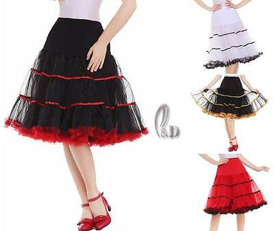 "AU SELLER 26"" Retro 50s Underskirt Rockabilly Petticoat Dance Tutu Skirt da019"