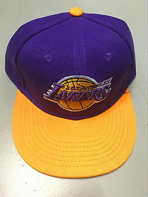 Kids Brand New NBA Lakers Cap Adjustable Cap Hat Snapback - Lakers purple