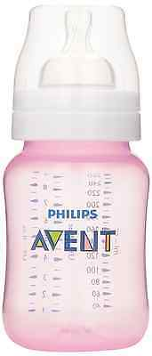 Philips Avent Classic Plus BPA Free Baby Bottle, Pink, 9-Ounce, 3-pack, SCF564/3