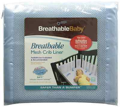 Breathable Baby 12112 Safer Bumper, Fits All Cribs (Blue)