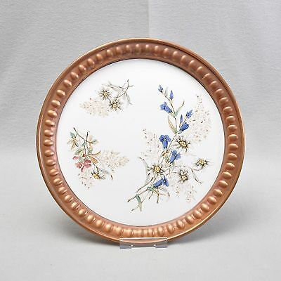 Wächtersbach large Art nouveau Tray with Edge of the copper,blumenmuster,Flowers