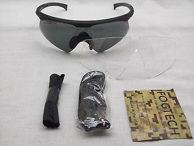 Wiley X WileyX PT-1 Tactical Sunglasses Lenses Smoke & Clear Lenses Z87 Safety