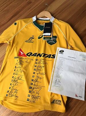 2016 Signed Wallabies Jersey -medium