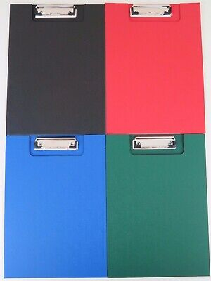 8 x A4 Clip Folder w/ Clear Insert Pocket Wire Clip Assorted Colours Clipfolder*